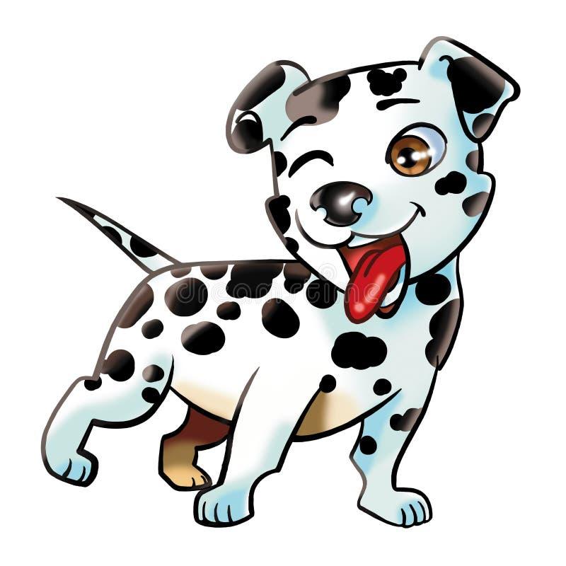 psi dalmatian szczeniak ilustracji