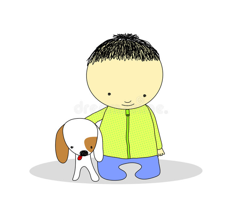 psi dzieciak ilustracji