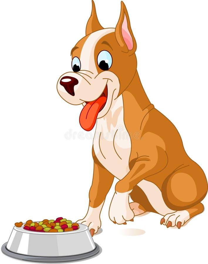 psi głodny ilustracja wektor