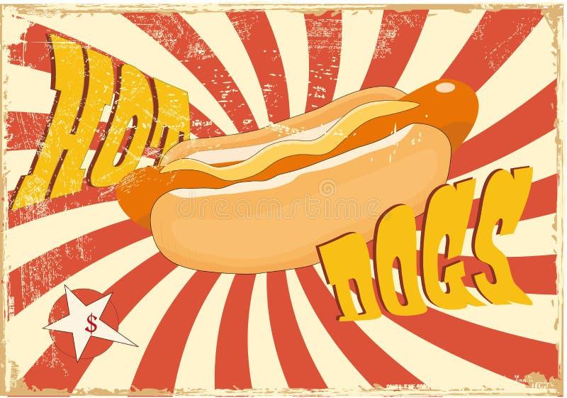 psi gorący ilustracji