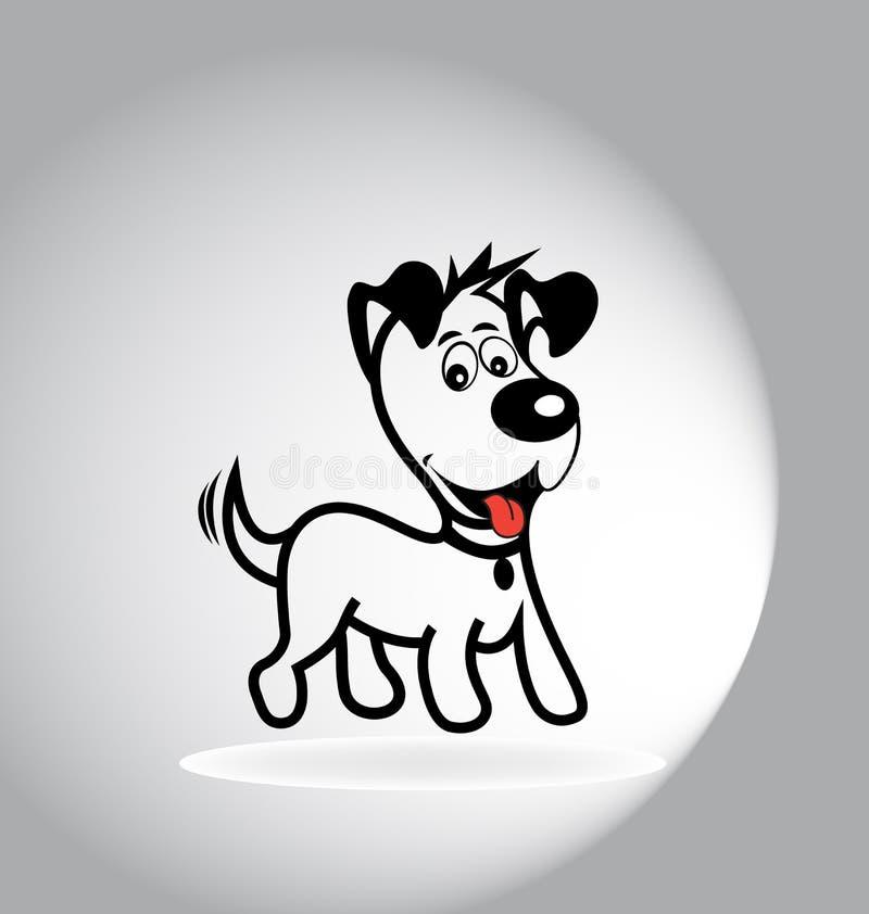 Psi kreskówka logo royalty ilustracja