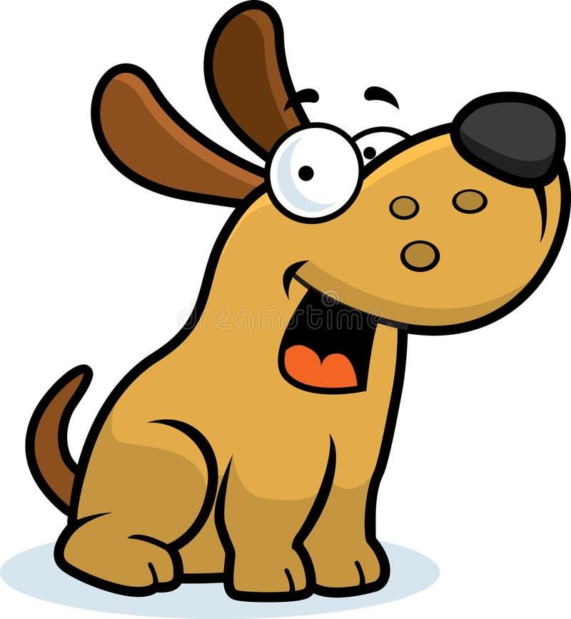 psi mały obsiadanie royalty ilustracja