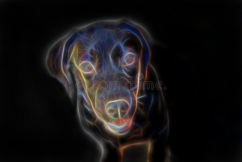 Psi Neonowy jarzeniowy skutek ilustracja wektor