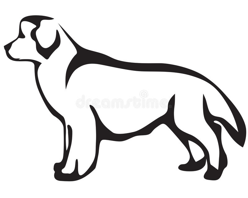 psi Newfoundland royalty ilustracja
