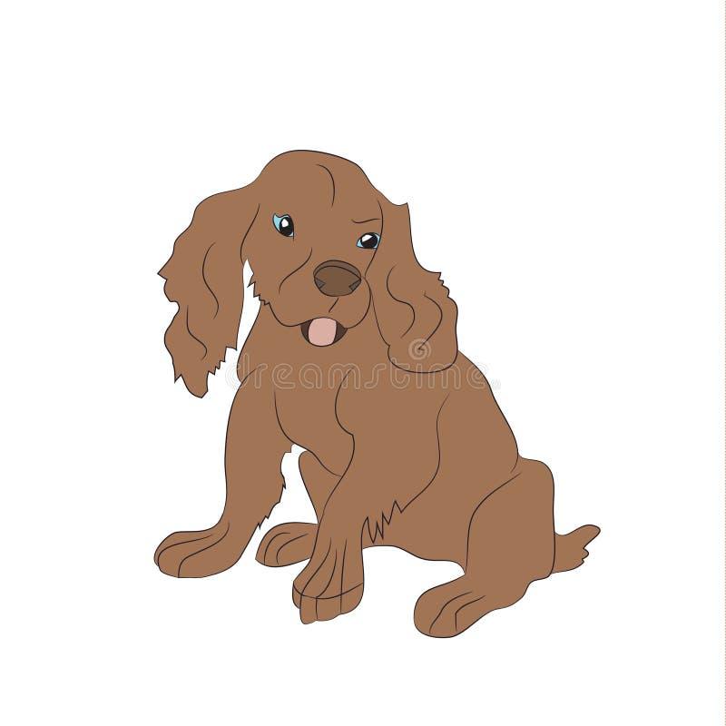 Psi obsiadanie, linie, wektor ilustracji