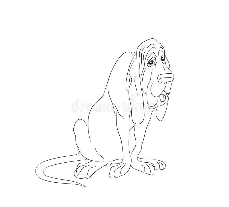 Psi obsiadanie, linie, wektor royalty ilustracja