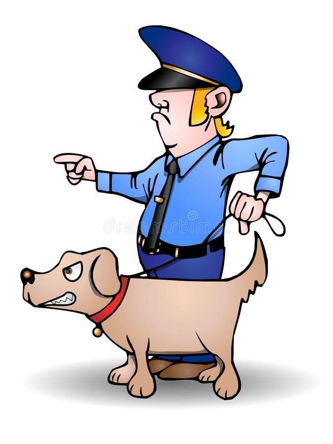 psi oddział ilustracja wektor