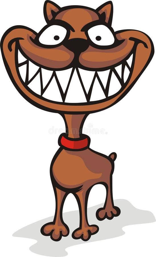 psi ono uśmiecha się szeroko ilustracja wektor
