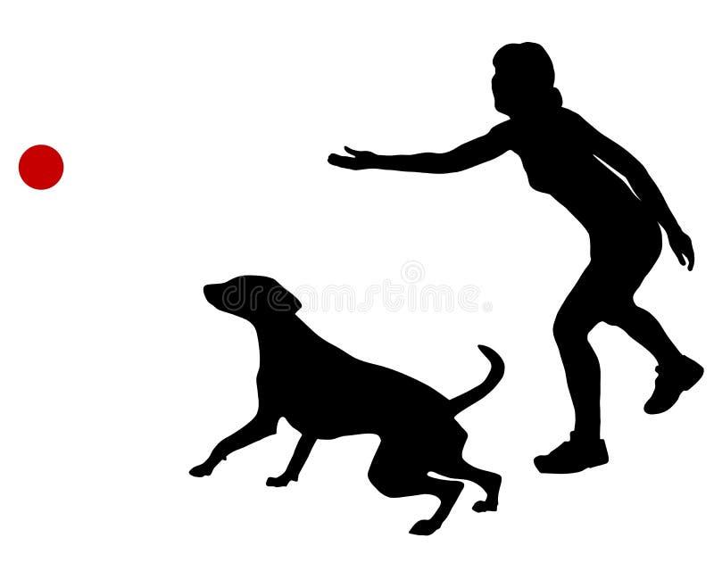 psi piłki szkolenie royalty ilustracja