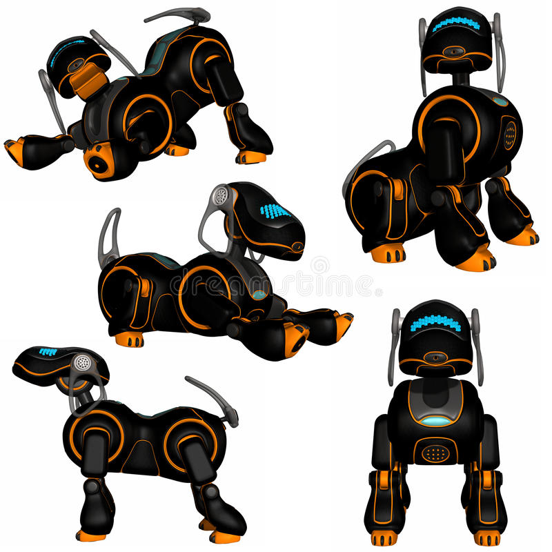 psi robot ilustracja wektor