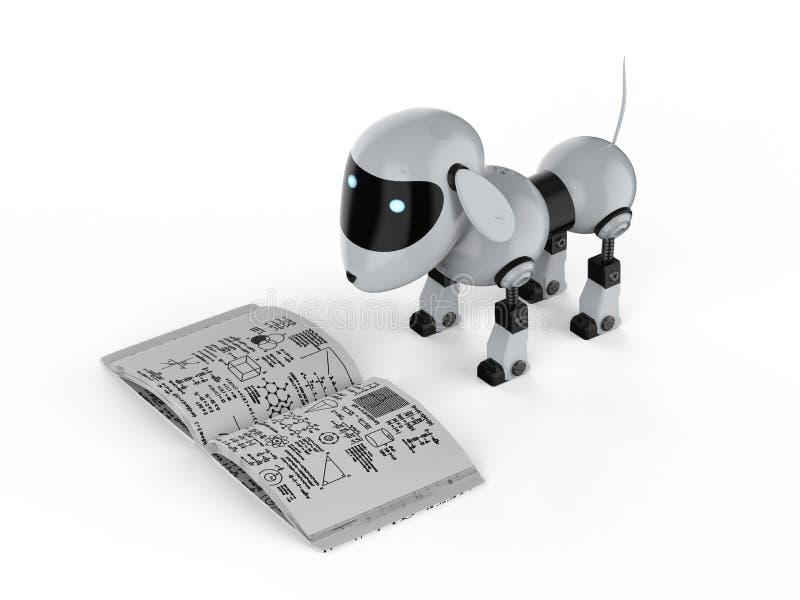 Psi robota uczenie royalty ilustracja