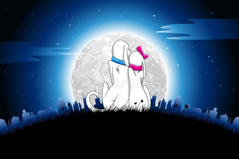 psi romantyczny ilustracja wektor