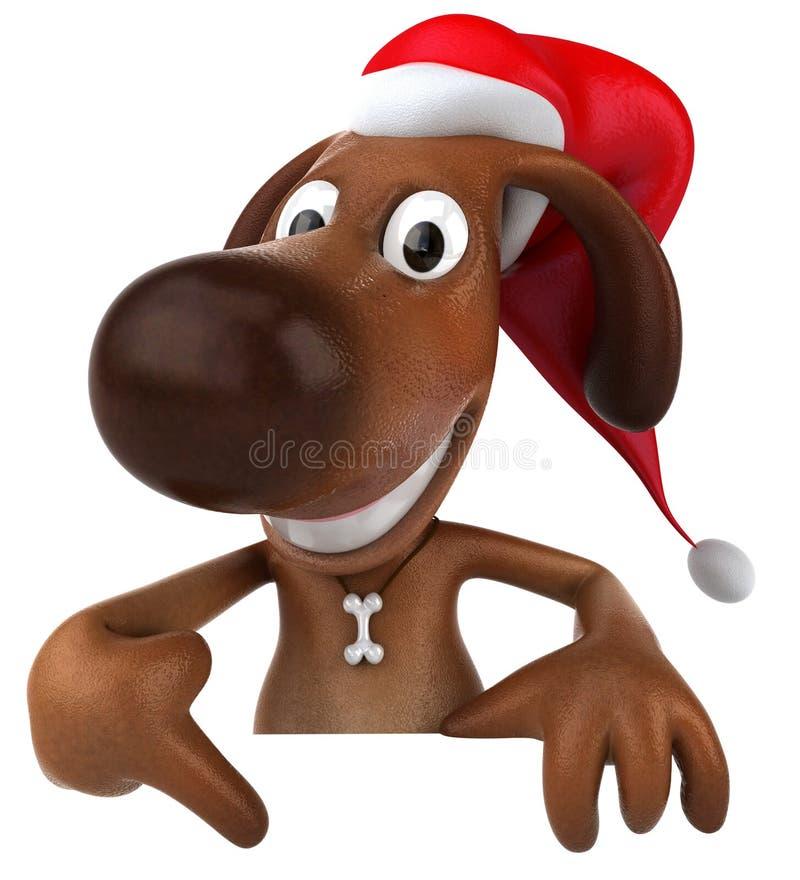 psi Santa ilustracji