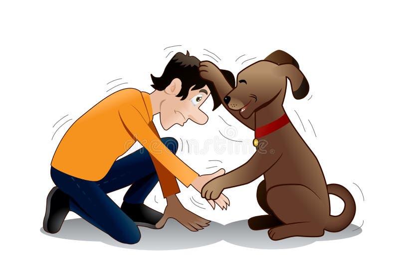 Psi szkolenie? royalty ilustracja