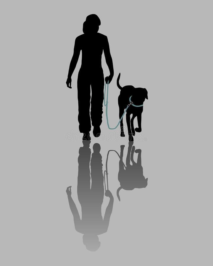 psi szkolenie royalty ilustracja