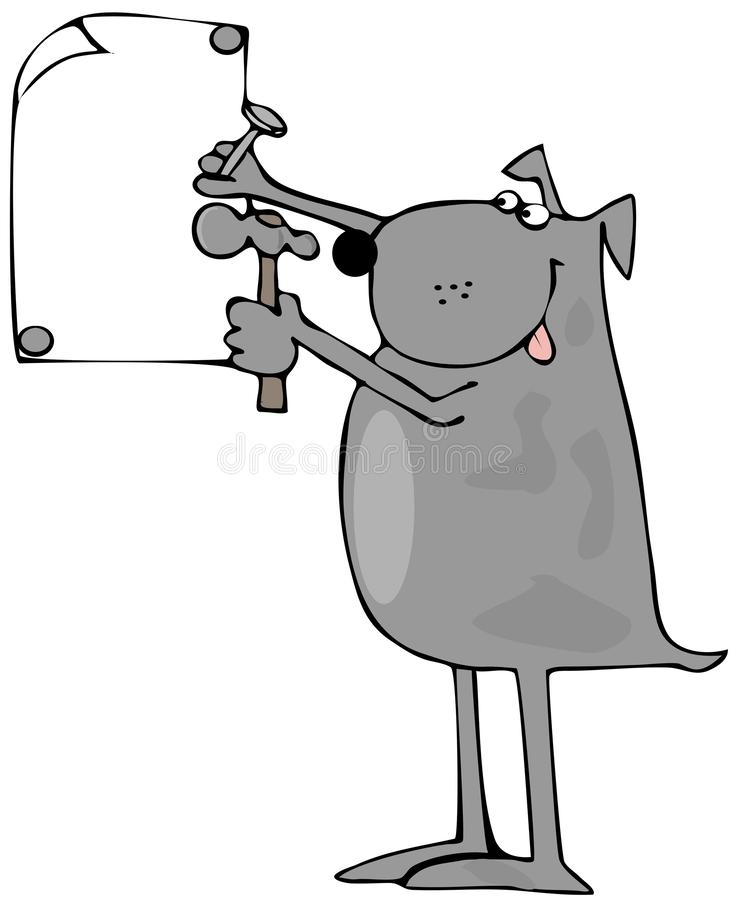 psi target106_0_ podpisuje psi ilustracji