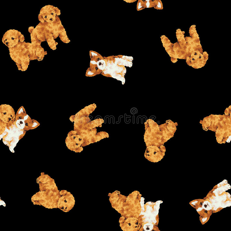 Psi wzór royalty ilustracja