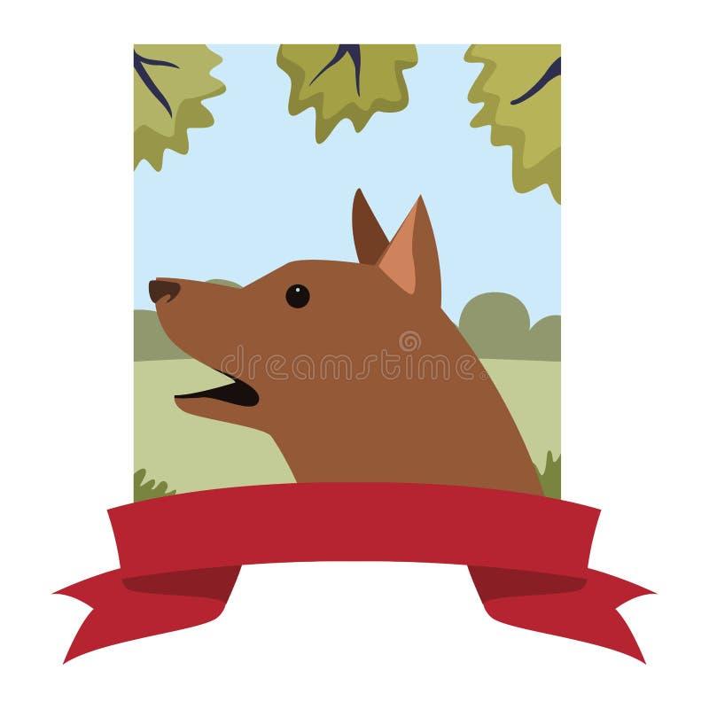 Psi zwierzęcy zwierzę domowe sztandar ilustracji