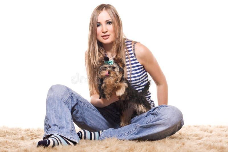 psia dziewczyna obrazy stock