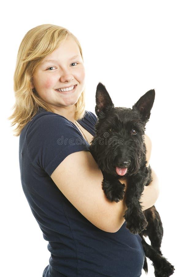 psia dziewczyna ona obrazy stock