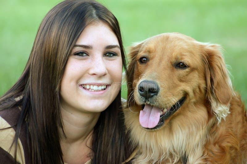 psia dziewczyno zdjęcie stock