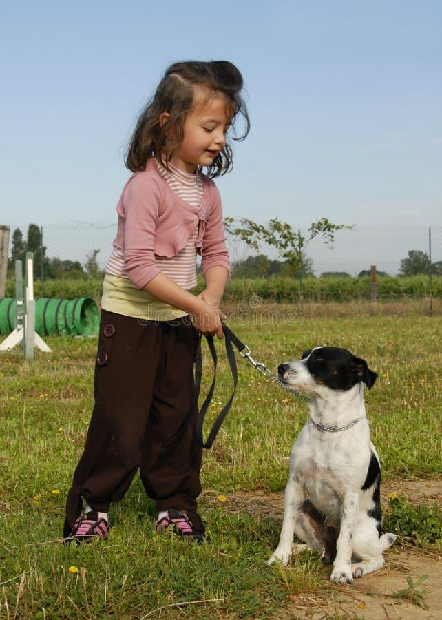 psia dziewczyno trochę zdjęcie royalty free