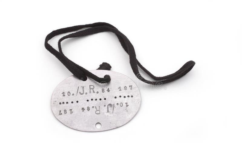 Psia etykietka Niemiecki żołnierz (tożsamościowa wojsko odznaka) obraz royalty free