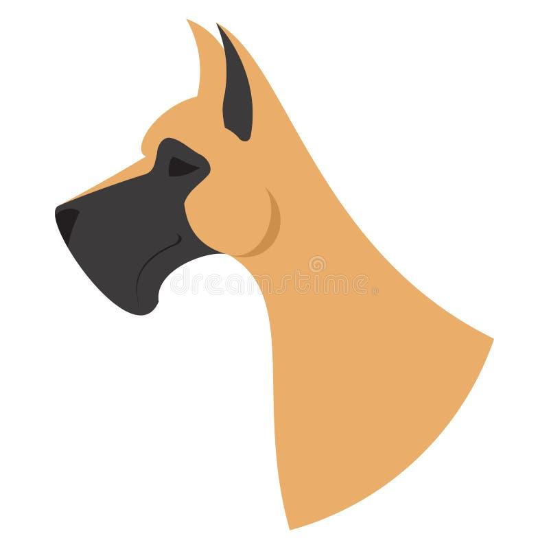 Psia głowa Great Dane royalty ilustracja