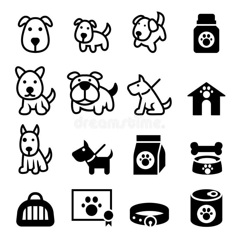 Psia ikona ilustracji