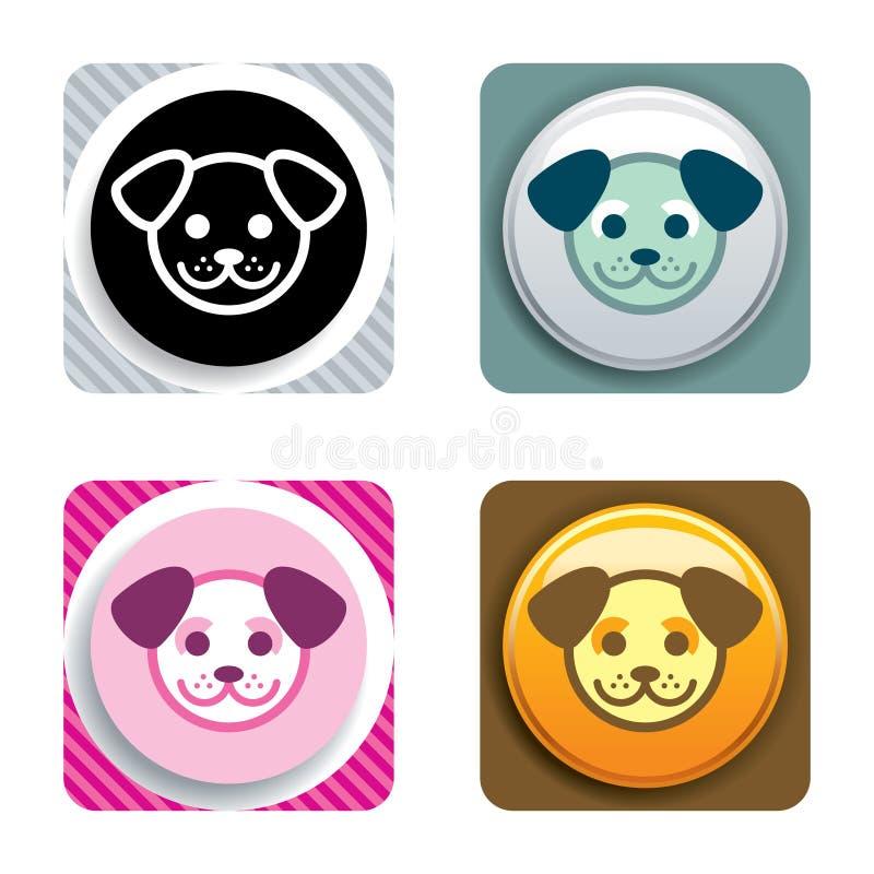 psia ikony zdjęcia stock