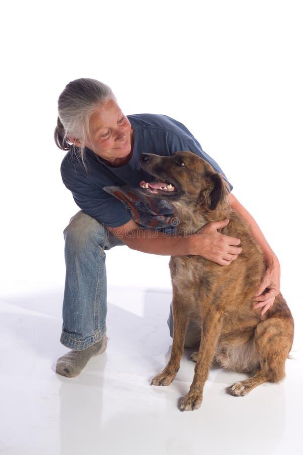 psia kobieta obraz royalty free
