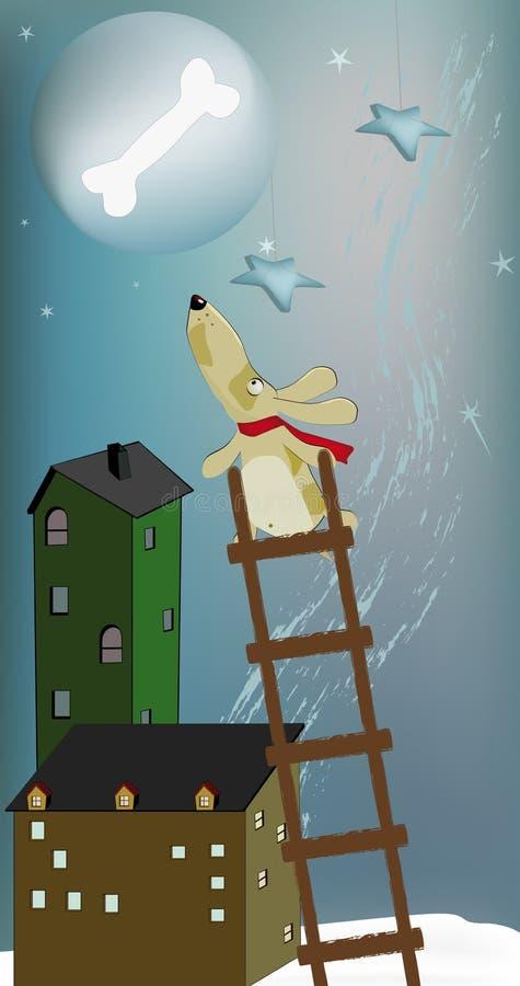 psia księżyc ilustracji