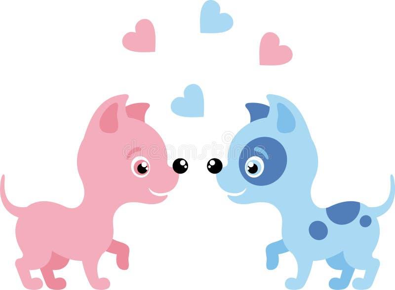 psia miłość ilustracji