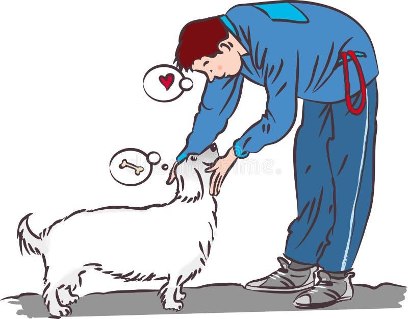 Psia miłość royalty ilustracja