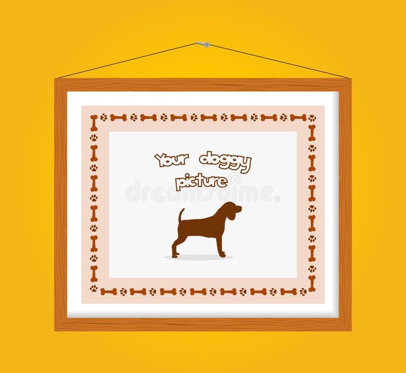 Psia obrazek rama ilustracja wektor