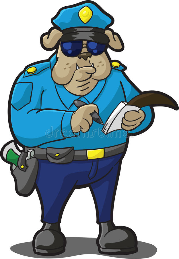 Download Psia Policja Ticket Writing Ilustracja Wektor - Obraz: 12196213
