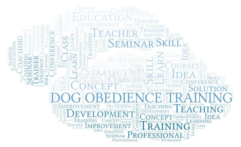 Psia posłuszeństwa szkolenia słowa chmura ilustracja wektor