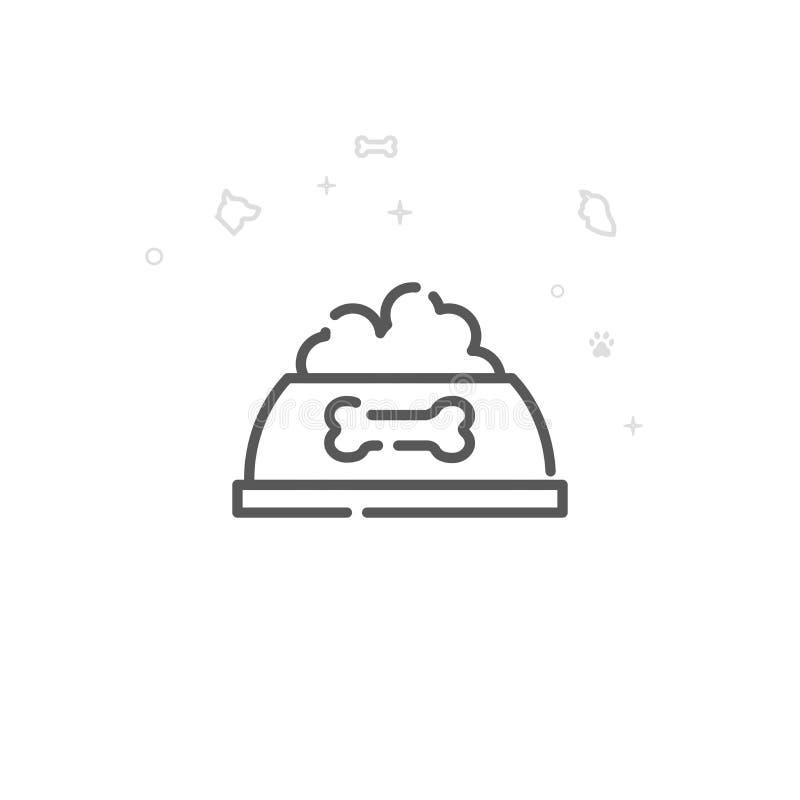 Psia pucharu wektoru linii ikona, symbol, piktogram, znak Lekki abstrakcjonistyczny geometryczny tło Editable uderzenie ilustracji
