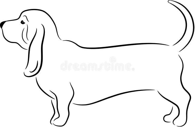 psia sylwetka ilustracja wektor