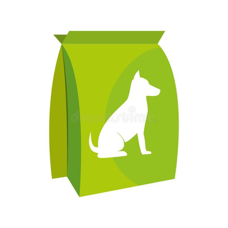 psia torby jedzenia ikona ilustracji