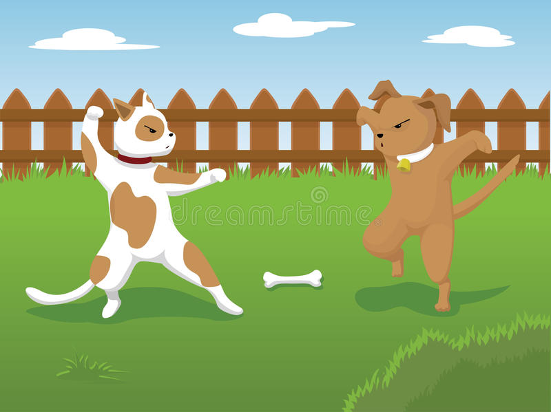 Psia Walka royalty ilustracja