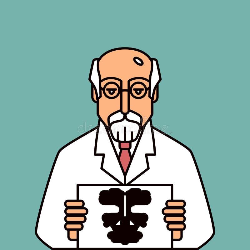 psicólogo ilustração stock