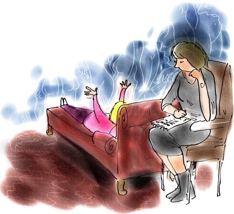 Psicanálise ilustração royalty free