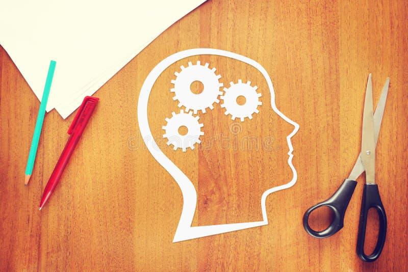 Psicología del pensamiento humano imágenes de archivo libres de regalías