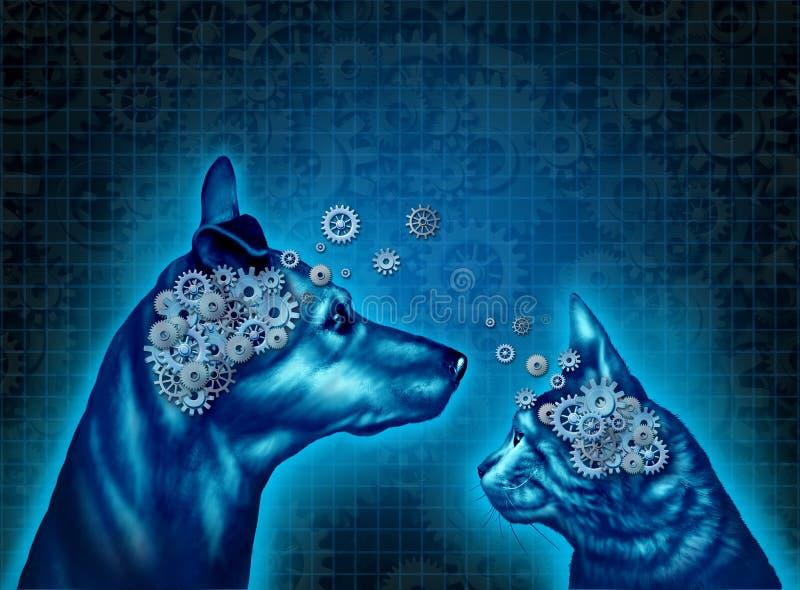 Psicologia do animal de estimação ilustração royalty free