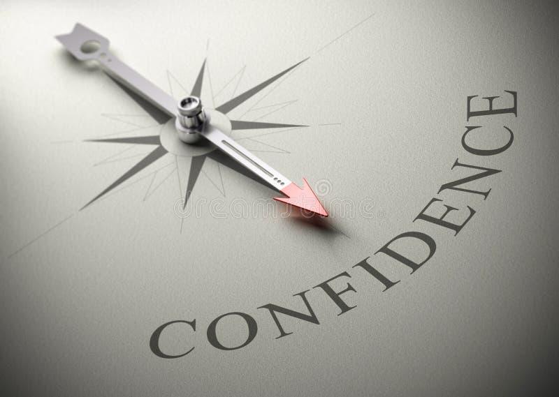 Psicologia, treinamento da autoconfiança ilustração do vetor