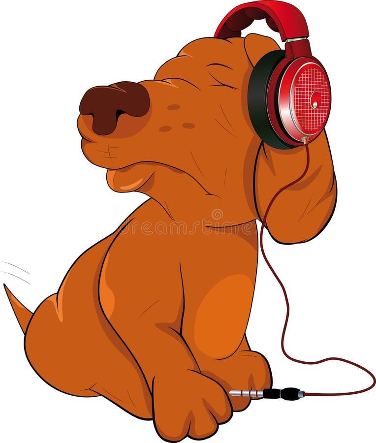 psie słuchawki ilustracja wektor