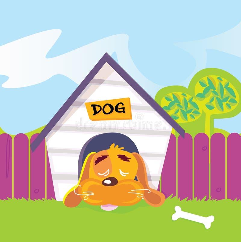 psiego domu dosypianie ilustracji