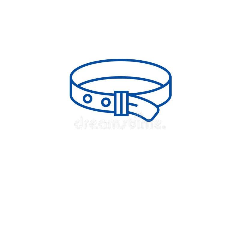 Psiego kołnierza linii ikony pojęcie Psiego kołnierza płaski wektorowy symbol, znak, kontur ilustracja royalty ilustracja