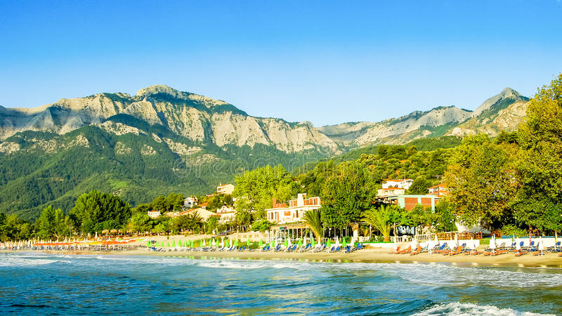 Psili Ammos beach, Thassos island, Greece royalty free stock photos